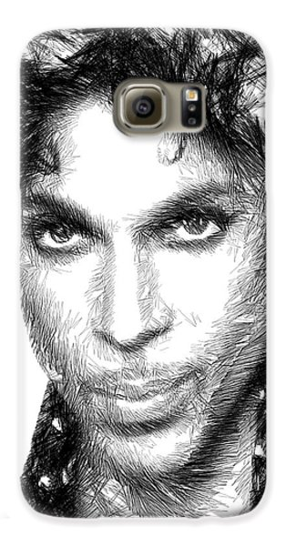 Prince - Tribute Sketch In Black And White Galaxy S6 Case