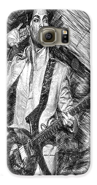 Prince - Tribute With Guitar In Black And White Galaxy S6 Case
