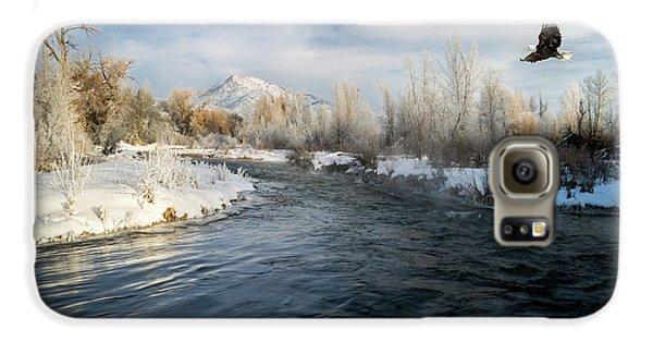 Provo River In Winter Galaxy S6 Case