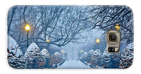 Boston Galaxy S6 Case - Public Garden Walk by Susan Cole Kelly