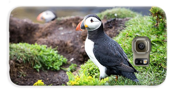 Puffin  Galaxy S6 Case by Jane Rix