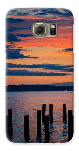 Puget Sound Sunset Galaxy S6 Case