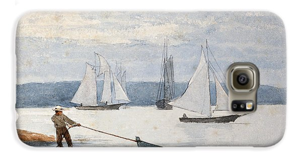 Boat Galaxy S6 Case - Pulling The Dory by Winslow Homer
