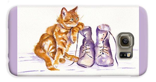 Cat Galaxy S6 Case - Puss 'n Boots by Debra Hall
