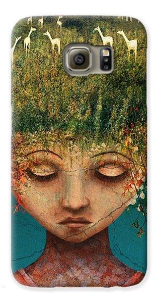 Llama Galaxy S6 Case - Quietly Wild by Catherine Swenson