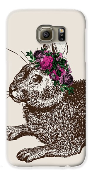 Rabbit And Roses Galaxy S6 Case