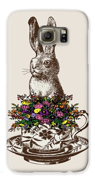 Rabbit In A Teacup Galaxy S6 Case by Eclectic at HeART