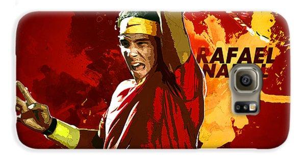 Rafael Nadal Galaxy S6 Case by Semih Yurdabak
