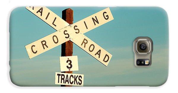 Train Galaxy S6 Case - Railroad Crossing by Todd Klassy