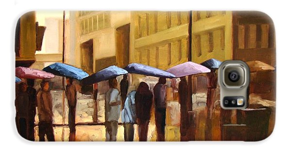 City Scenes Galaxy S6 Case - Rain In Manhattan Number Seventeen by Tate Hamilton