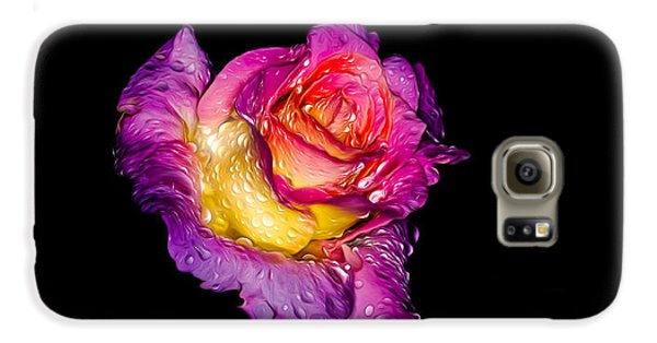 Galaxy S6 Case featuring the photograph Rain-melted Rose by Rikk Flohr