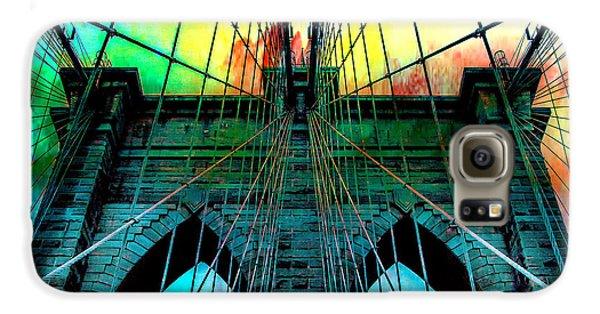 Brooklyn Bridge Galaxy S6 Case - Rainbow Ceiling  by Az Jackson