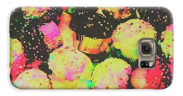 Rainbow Color Cupcakes Galaxy S6 Case