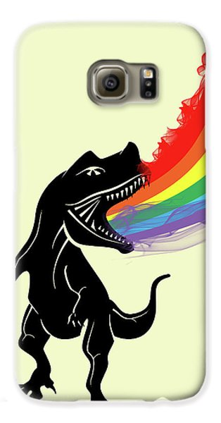 Rainbow Dinosaur Galaxy S6 Case