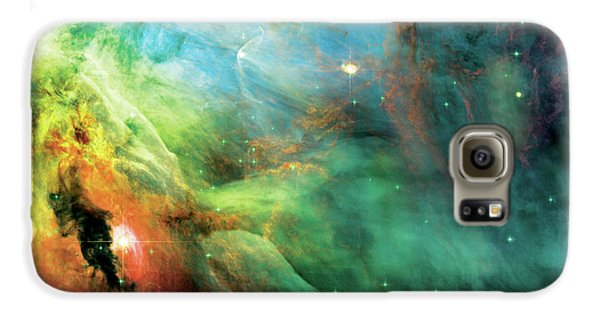 Rainbow Orion Nebula Galaxy S6 Case