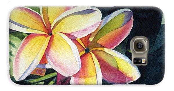 Flowers Galaxy S6 Case - Rainbow Plumeria by Marionette Taboniar