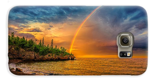 Rainbow Point Galaxy S6 Case
