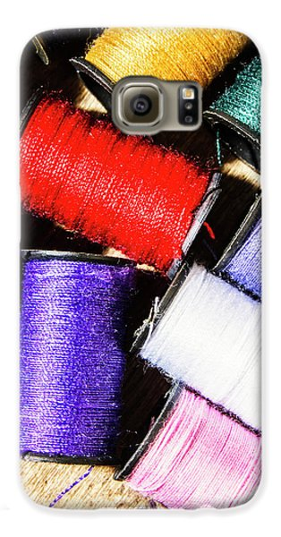 Galaxy S6 Case featuring the photograph Rainbow Threads Sewing Equipment by Jorgo Photography - Wall Art Gallery
