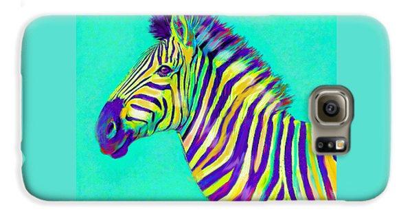 Rainbow Zebra 2013 Galaxy S6 Case by Jane Schnetlage