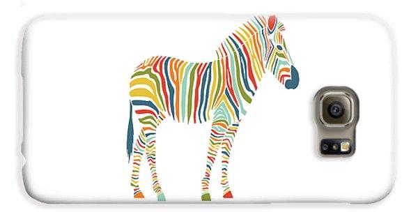 Rainbow Zebra Galaxy S6 Case by Nicole Wilson
