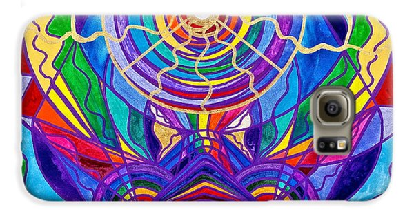 Swan Galaxy S6 Case - Raise Your Vibration by Teal Eye  Print Store