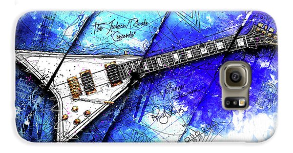 Randy's Guitar On Blue II Galaxy S6 Case