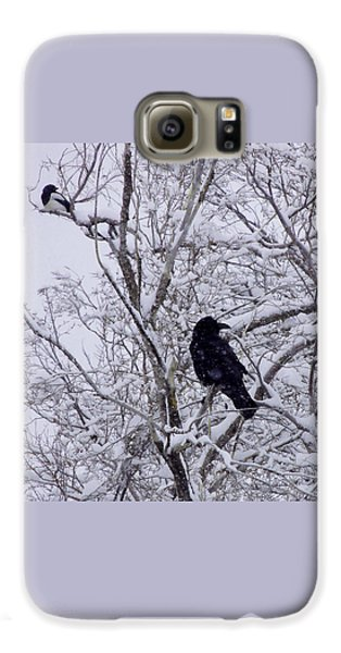 Raven And Magpie Galaxy S6 Case