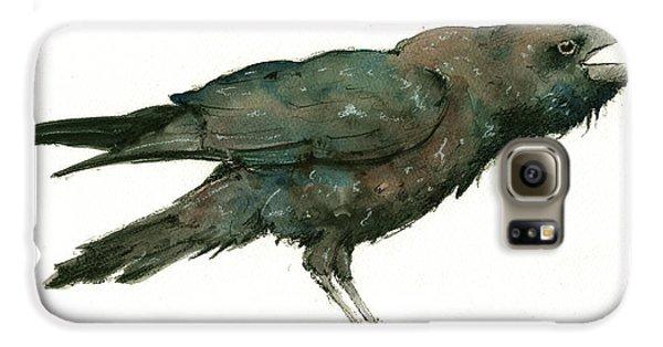 Crow Galaxy S6 Case - Raven Bird by Juan Bosco