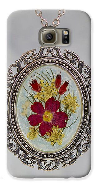 Real Pressed Verbena And Heather Blossoms Galaxy S6 Case