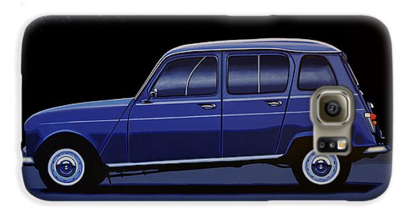Truck Galaxy S6 Case - Renault 4 1961 Painting by Paul Meijering