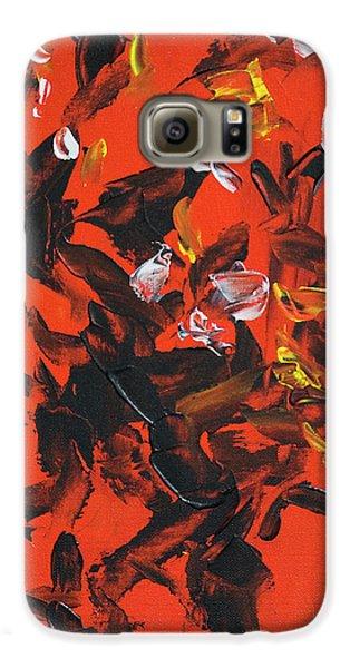 Red And Black Galaxy S6 Case by Yulia Kazansky