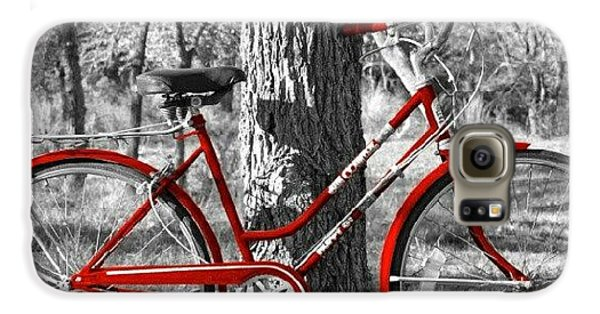 Red Bicycle II Galaxy S6 Case by James Granberry