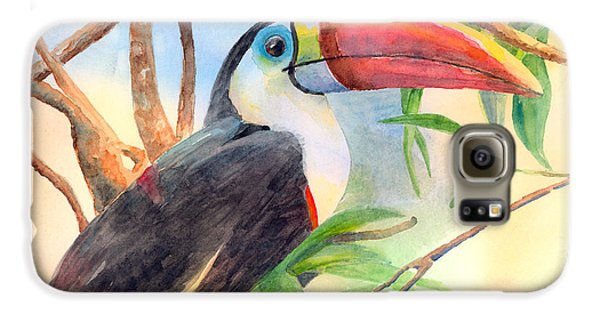 Red-billed Toucan Galaxy S6 Case by Arline Wagner