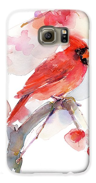 Red Cardinal Galaxy S6 Case
