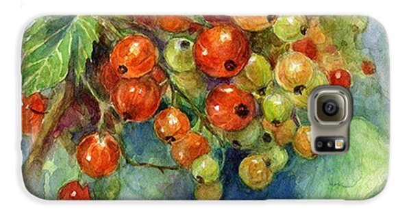 Red Currants Berries Watercolor Galaxy S6 Case