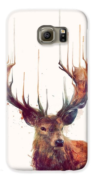 Red Deer Galaxy S6 Case by Amy Hamilton
