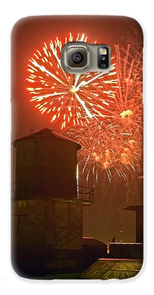 Red Fireworks Galaxy S6 Case