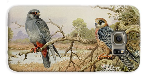 Red-footed Falcons Galaxy S6 Case by Carl Donner