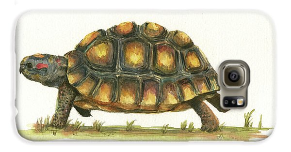 Reptiles Galaxy S6 Case - Red Footed Tortoise  by Juan Bosco