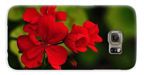 Red Geranium Galaxy S6 Case