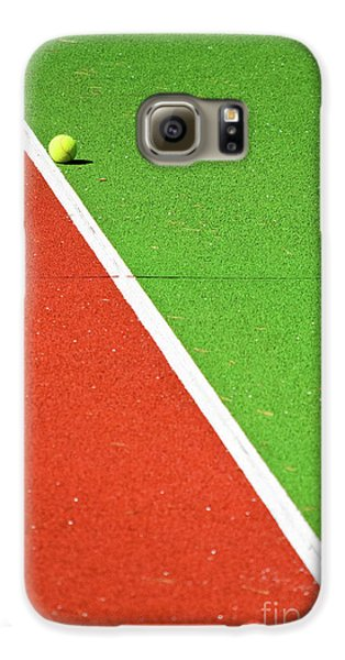 Red Green White Line And Tennis Ball Galaxy S6 Case