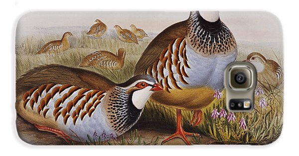 Red-legged Partridges Galaxy S6 Case by John Gould