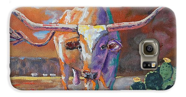 Red River Showdown Galaxy S6 Case by J P Childress