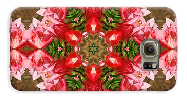 Galaxy S6 Case featuring the photograph Red Rose Kaleidoscope by Bill Barber