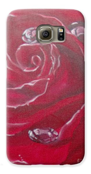Galaxy S6 Case featuring the painting Red by Saundra Johnson