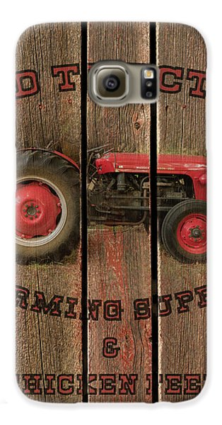 Red Tractor Farming Supply Galaxy S6 Case