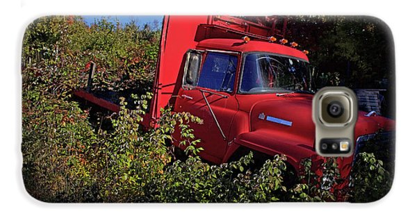Truck Galaxy S6 Case - Red Truck by Jerry LoFaro