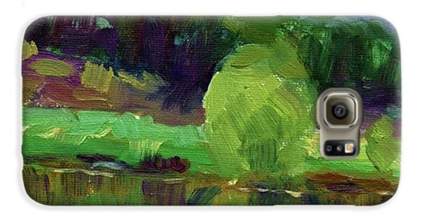 Colorful Galaxy S6 Case - Reflections Painting Study By Svetlana by Svetlana Novikova