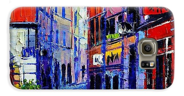 Architecture Galaxy S6 Case - rendez-vous In Vieux Lyon 25x25 Cm by Mona Edulesco