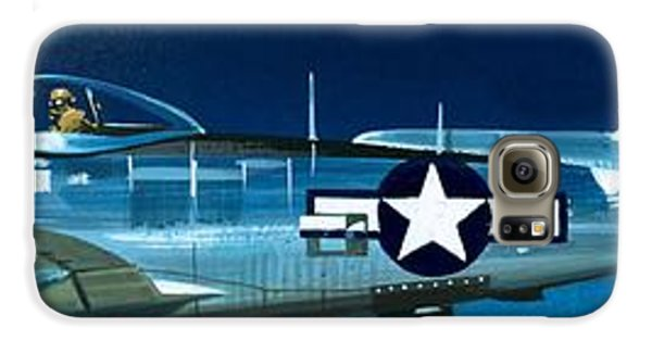 Airplane Galaxy S6 Case - Republic P-47n Thunderbolt by Wilf Hardy